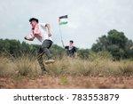 a male teenager wearing a... | Shutterstock . vector #783553879