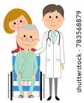 doctors and wheelchair patients | Shutterstock .eps vector #783568879