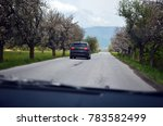 spring trip by car | Shutterstock . vector #783582499