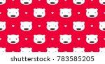 seamless pattern bear polar... | Shutterstock .eps vector #783585205