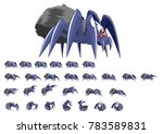 animated spider game character... | Shutterstock .eps vector #783589831