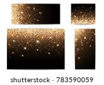 set of banners with sparkles on ... | Shutterstock . vector #783590059