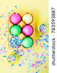 easter  colorful eggs  sweets ...   Shutterstock . vector #783593887