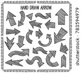 sketchy arrow set. hand drawn... | Shutterstock .eps vector #783594979