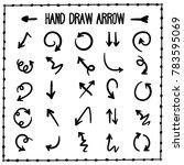 sketchy arrow set. hand drawn... | Shutterstock .eps vector #783595069