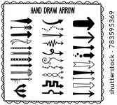 sketchy arrow set. hand drawn... | Shutterstock .eps vector #783595369