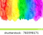 watercolor rainbow. abstract... | Shutterstock .eps vector #783598171