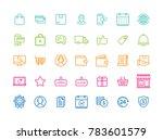vector set of e commerce modern ... | Shutterstock .eps vector #783601579