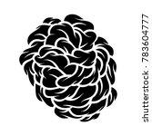 flower rose  black and white.... | Shutterstock .eps vector #783604777