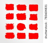 red brush stroke and texture.... | Shutterstock .eps vector #783604831