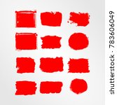 red brush stroke and texture.... | Shutterstock .eps vector #783606049