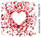 happy valentines day card cover ... | Shutterstock .eps vector #783618079