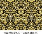 vector floral damask pattern | Shutterstock .eps vector #783618121
