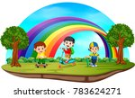vector illustration of children ... | Shutterstock .eps vector #783624271