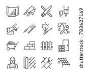 home renovation icon set.... | Shutterstock .eps vector #783627169