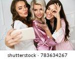 beautiful women making photos... | Shutterstock . vector #783634267