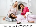 pajama party. female models in... | Shutterstock . vector #783638119