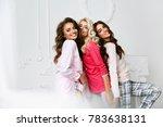 girls in pajamas. beautiful... | Shutterstock . vector #783638131