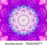 abstract magenta fractal with... | Shutterstock . vector #783644077