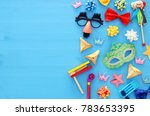 purim celebration concept ... | Shutterstock . vector #783653395
