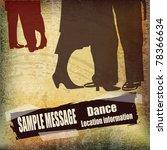 Vintage Ballroom Dance Vector...