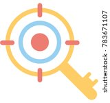 target keyword vector icon  | Shutterstock .eps vector #783671107