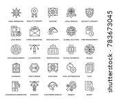 web design flat line icons 2 | Shutterstock .eps vector #783673045