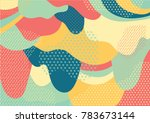 Creative artistic colorful background with patterns. Collage. Design for prints, posters, cards, etc. Vector.