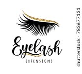 eyelash extension logo. vector... | Shutterstock .eps vector #783677131