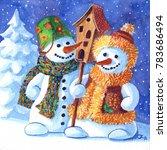 A Loving Family Of Snowmen....