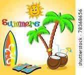 summer background vector... | Shutterstock .eps vector #78368656