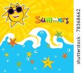 summer background vector... | Shutterstock .eps vector #78368662
