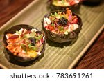fine dining asian cuisine...   Shutterstock . vector #783691261