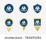 vector flag set of louisiana ...   Shutterstock .eps vector #783695281