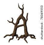 wooden letter a on white... | Shutterstock . vector #78369553
