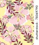 beautiful  pattern floral   Shutterstock . vector #78369790