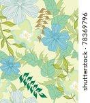 beautiful  pattern floral | Shutterstock . vector #78369796