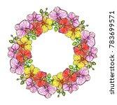 hand drawn illustrations wreath ... | Shutterstock .eps vector #783699571