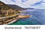 aerial view of famous sea cliff ...   Shutterstock . vector #783708397