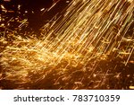 sparks abstract  factory worker ... | Shutterstock . vector #783710359
