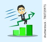 businessman with arrow up chart ... | Shutterstock .eps vector #783725971