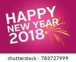 happy fitness new year | Shutterstock . vector #783727999