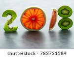 healthy holidays food and diet. ... | Shutterstock . vector #783731584