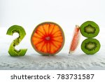 healthy holidays food and diet. ... | Shutterstock . vector #783731587