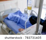 close view of iv drip with...   Shutterstock . vector #783731605