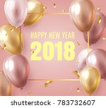 2018 new year black background... | Shutterstock .eps vector #783732607