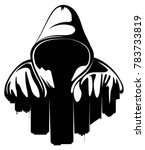 urban style. hooded man. city... | Shutterstock .eps vector #783733819