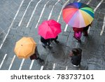 Colorful Umbrellas Seen From...