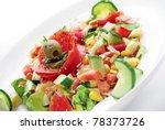 vegetable salad | Shutterstock . vector #78373726