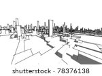 sketch of abstract architecture | Shutterstock .eps vector #78376138